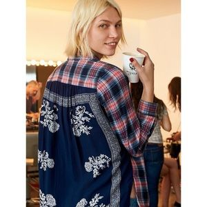 Free People Behind The Flannel Button Down